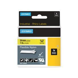 Dymo 1734525 24mm Black on Yellow Flexible Tape - S0773850