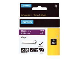 Dymo 1805415 12mm White on Purple