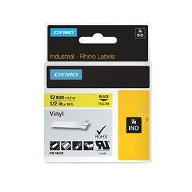 Dymo 18432 12mm Yellow Vinyl Tape - S0718450