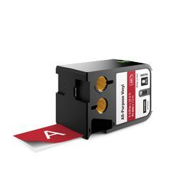 Dymo 1868764 XTL 41mm x 7m Roll All-Purprose Vinyl White on Red