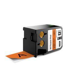 Dymo 1868769 XTL 41mm x 7m Roll All-Purpose Vinyl Black on Orange