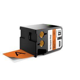 Dymo 1868770 XTL 54mm x 7m Roll All-Purpose Vinyl Black on Orange