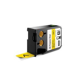 Dymo 1868773 XTL 24mm x 7m Roll All-Purpose Vinyl Black on Yellow
