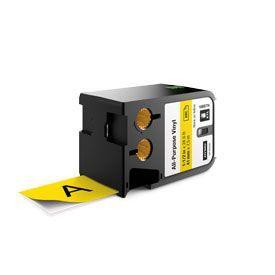 Dymo 1868774 XTL 41mm x 7m Roll All-Purpose Vinyl Black on Yellow