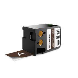 Dymo 1868789 XTL 41mm x 7m Roll All-Purpose Vinyl White on Brown