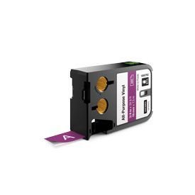 Dymo 1868792 XTL 19mm x 7m Roll All-Purpose Vinyl White on Purple