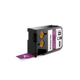 Dymo 1868793 XTL 24mm x 7m Roll All-Purpose Vinyl White on Purple