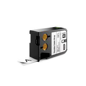 Dymo 1868808 XTL 24mm x 5.5m Roll Flexible Cable Wrap Black on White