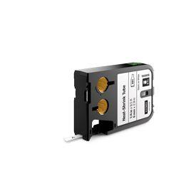Dymo 1868809 XTL 6mm x 2.7m Roll Heat-Shrink Tube Black on White