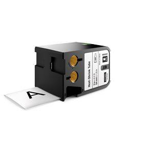 Dymo 1868812 XTL 54mm x 1.8m Roll Heat-Shrink Tube Black on White