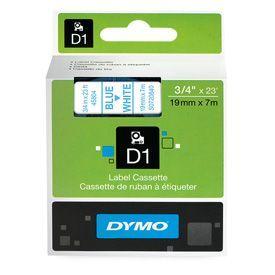Dymo 45804 19mm x 7m Blue on White Tape