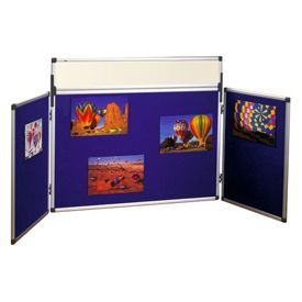 Bi-Office Tabletop Trio Showboard