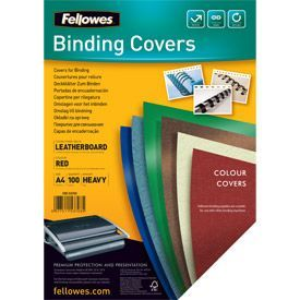 Fellowes 5370301 A4 Leatherboard Covers