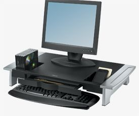 Fellowes 8031001 Premium Monitor Riser 2pk