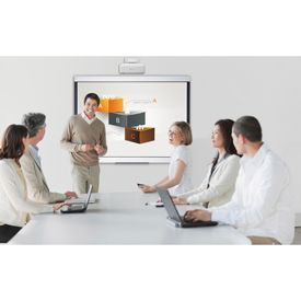Bi-Office 90 Inch Whiteboard and Short Throw Projector Bundle
