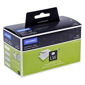 Dymo 99011 28mm x 89mm Colour Labels Box of 4 Rolls