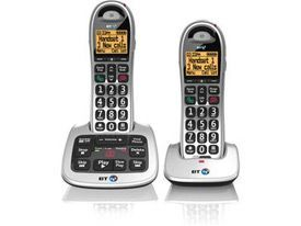 BT BT4500 Twin Big Button Dect Telephone with Answer Machine