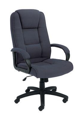 Keno Executive Fabric Chair Charcoal