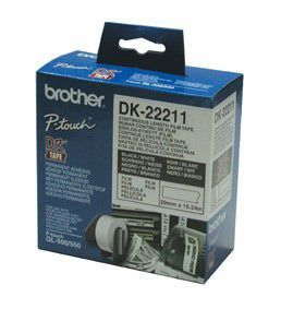 Brother DK22211 White Film Tape