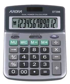 Aurora DT398 Desk Calculator