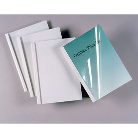 GBC IB370106 Standard White 25mm Thermal Binding Covers 50pk