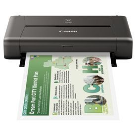 Canon PIXMA iP110B A4 Colour Inkjet Printer with Battery