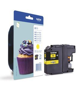 Brother LC123Y Yellow Cartridge