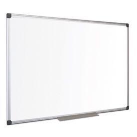 Bi-Office Maya Melamine Aluminium Framed Dry-wipe Board 900x600mm