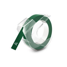 Dymo S0898160 White on Green Embossing Tape