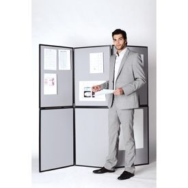 Bi-Office 6 Panel Showboard Exhibition System 900x600x110mm