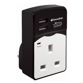 Swordfish VariSocket Dual USB Auto-Detect Charger