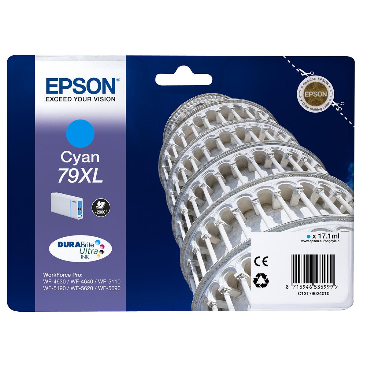 Epson 79XL Ink Cartridge Cyan