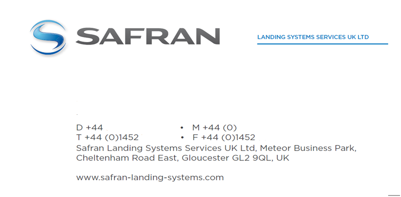 Safran Business Cards