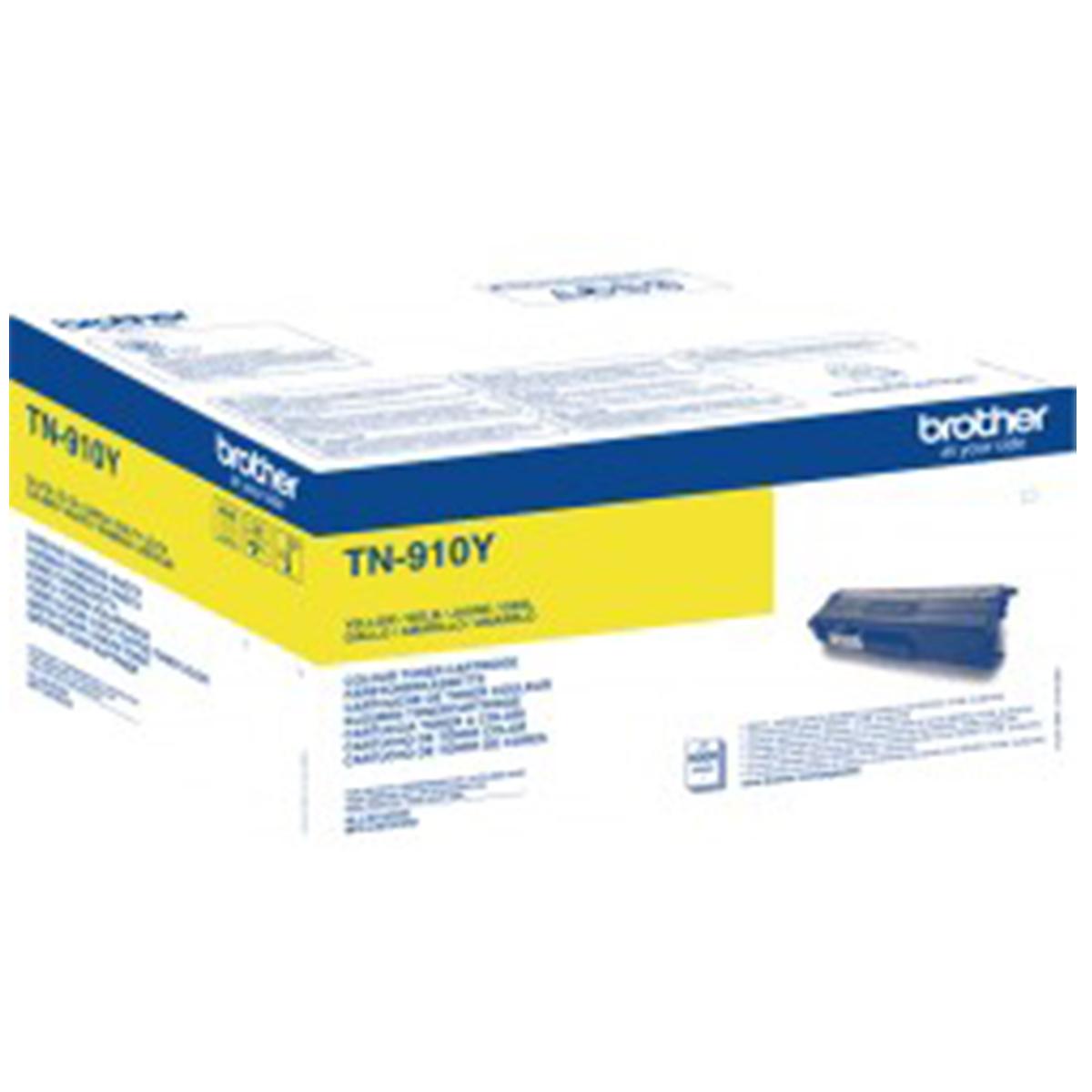 Brother TN-910Y Ultra High Yield Yellow Toner